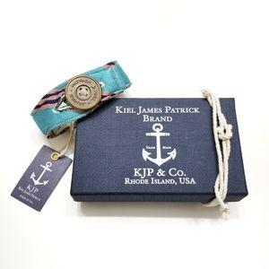NWT Kiel James Patrick Rep Stripe Fabric Bracelet
